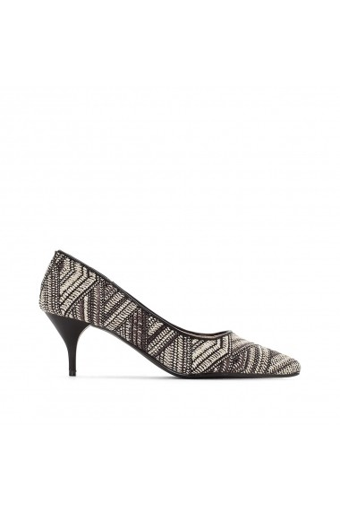 Pantofi cu toc La Redoute Collections GEH640 negru