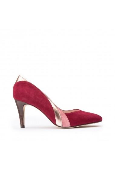 Pantofi cu toc La Redoute Collections GGT987 bordo