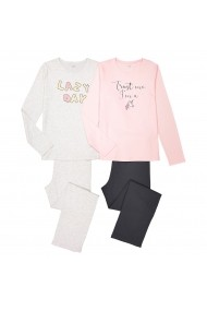 Set 2 pijamale La Redoute Collections GDV590 roz - els