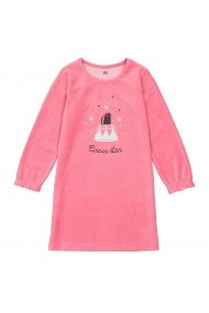 Camasa de noapte La Redoute Collections GGE817 roz