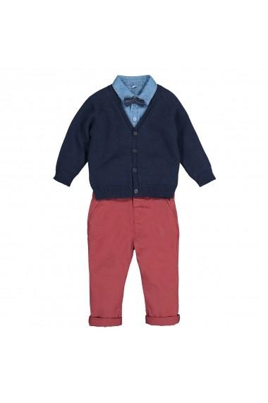 Set cardigan, camasa si pantaloni La Redoute Collections GGH111 multicolor