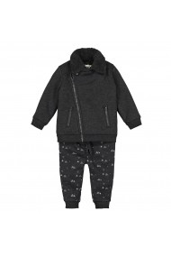 Set jacheta, bluza si pantaloni La Redoute Collections GGM122 negru
