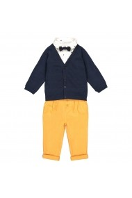 Set cardigan, camasa si pantaloni La Redoute Collections GFN446 alb