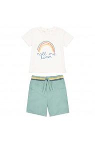 Set tricou si pantaloni scurti La Redoute Collections GFS247 alb
