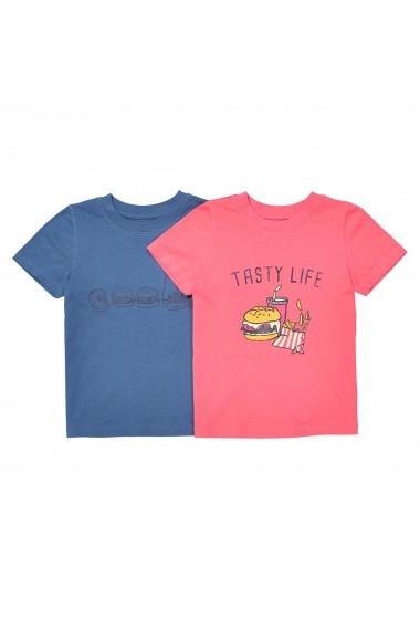 Tricou La Redoute Collections GEK963-Coral+_navy_blue Roz