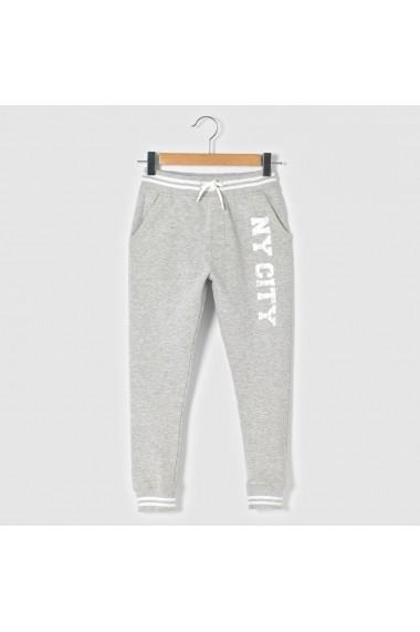 Pantaloni sport La Redoute Collections GEA095 gri - els