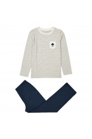 Pijama La Redoute Collections GDX970-grey_marl-navy_blue Gri