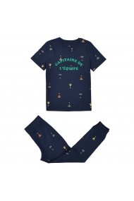 Pijama La Redoute Collections GDX974-navy_blue Bleumarin