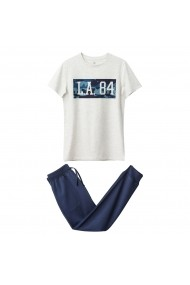 Pijama La Redoute Collections GDY119-grey_marl-navy Gri