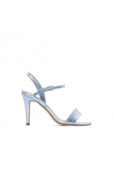 Sandale cu toc La Redoute Collections GEG026 albastru
