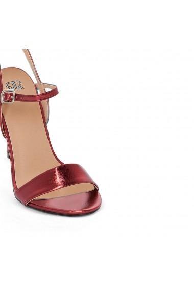 Sandale cu toc La Redoute Collections GEG026 bordo - els