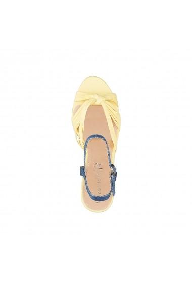 Sandale cu toc La Redoute Collections GEG237 albastru - els