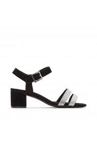 Sandale cu toc La Redoute Collections GEG258 negru
