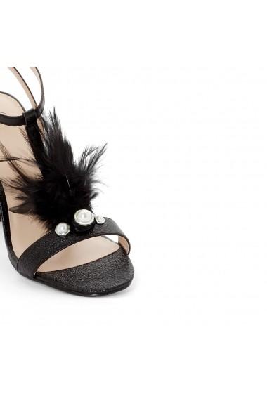 Sandale cu toc La Redoute Collections GEG406 negru