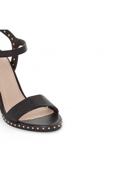 Sandale cu toc La Redoute Collections GEP431-black Negru - els