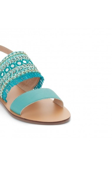 Sandale plate La Redoute Collections GER162 albastru