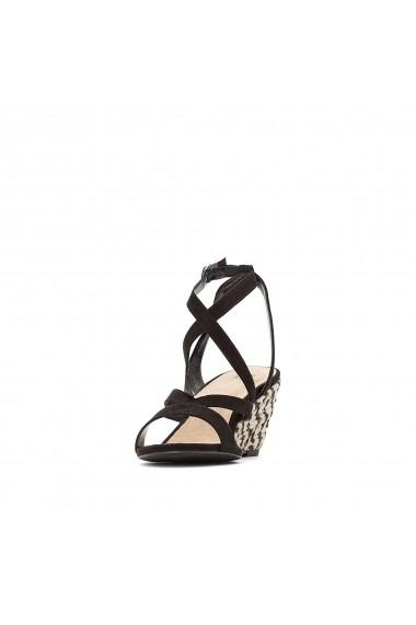 Sandale cu platforma La Redoute Collections GFU872 negru