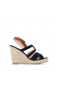 Sandale cu platforma La Redoute Collections GGC643 bleumarin
