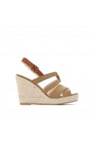 Sandale cu platforma La Redoute Collections GGC643 kaki