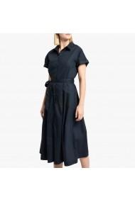 Rochie lunga bleumarin cu maneca scurta si cordon in talie La Redoute Collections GGO140