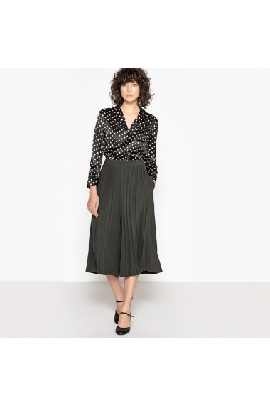 Camasa La Redoute Collections GEG149-black_polka_dot_print-white Negru