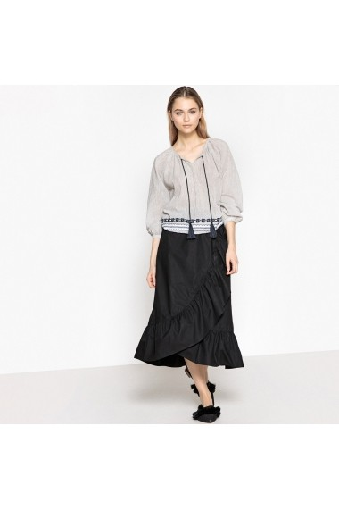 Bluza La Redoute Collections GEQ260-white-grey_striped Alb