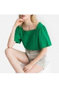 Bluza verde cu volane la maneci La Redoute Collections GFX593