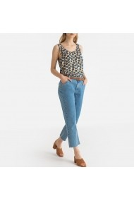 Top maro cu animal print La Redoute Collections GGD109