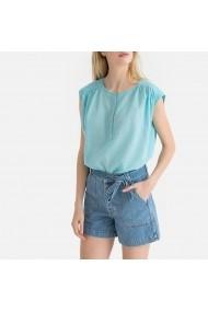 Bluza albastra fara maneci La Redoute Collections GGD289