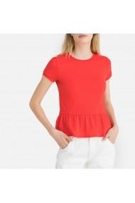 Bluza rosie cu maneca scurta si peplum La Redoute Collections GGE450