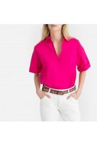 Bluza fucsia cu maneca scurta si guler tip camasa La Redoute Collections GGH657