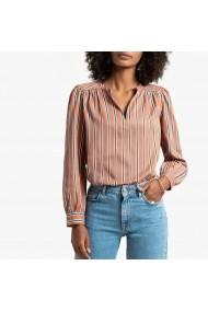 Bluza in dungi larga cu decolteu La Redoute Collections GGQ741