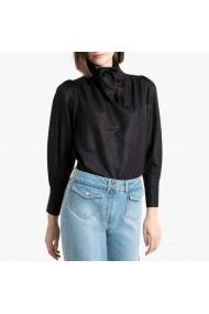 Bluza neagra cu guler inalt, tip panglica cu maneca lunga La Redoute Collections GGQ743