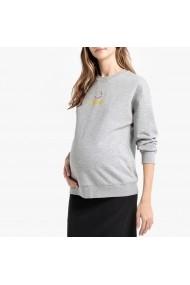Bluza gri pentru gravide cu maneca lunga La Redoute Collections GGS208