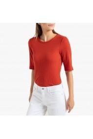 Bluza caramizie cu decolteu rotund La Redoute Collections GHE146