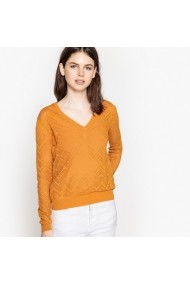 Pulover La Redoute Collections GEK185-curry_yellow Galben