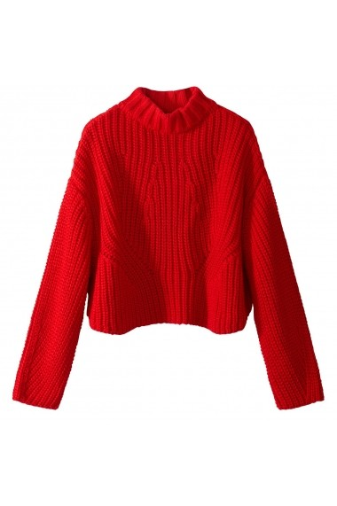 Pulover La Redoute Collections GEM987-bright_red Rosu