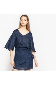 La Redoute Collections LRD-GEH133-navy_checks_els Тъмносин