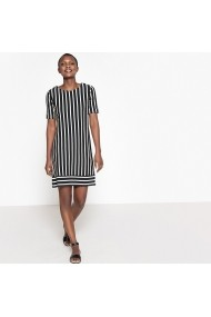 Rochie de zi La Redoute Collections GFB863-black_striped-white Negru
