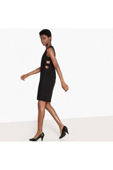Rochie neagra cambrata cu model lateral La Redoute Collections GEZ160 - els