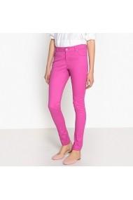 Pantaloni slim La Redoute Collections AOM327 roz