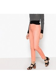 Pantaloni slim La Redoute Collections GEL866 roz