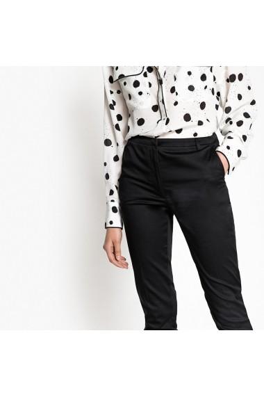 Pantaloni slim La Redoute Collections GER344 negru