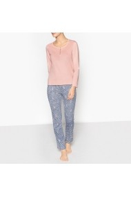 Pijama La Redoute Collections GDZ311-pink-blue Roz