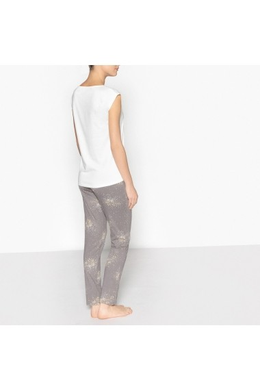 Pijama La Redoute Collections GEB153-white-grey Alb