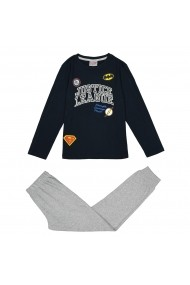 Pijama Justice League GEJ152-navy-grey_marl Bleumarin