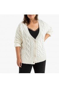 Cardigan LA REDOUTE COLLECTIONS PLUS GGR408 alb
