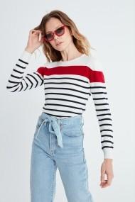 Пуловер Jimmy Sanders MAS-19W_KW6051_ECRU Бял