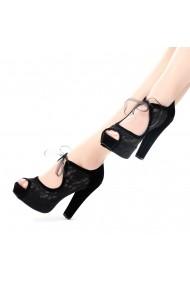 Pantofi cu toc DELISIYIM Melmus Negru - els