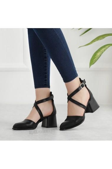 Pantofi cu toc DELISIYIM Dayen Negru - els
